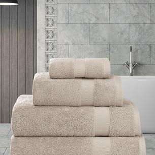Полотенце для ванной Karna AREL хлопковая махра капучино 100х150
