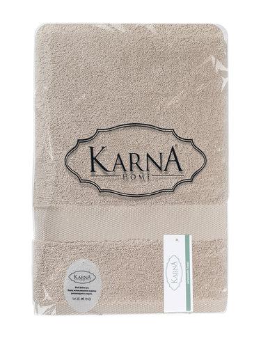 Полотенце для ванной Karna AREL хлопковая махра капучино 50х100, фото, фотография