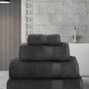Полотенце для ванной Karna AREL хлопковая махра тёмно-коричневый 100х150