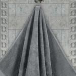 Полотенце для ванной Karna AREL хлопковая махра серый 30х50, фото, фотография