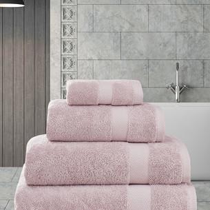 Полотенце для ванной Karna AREL хлопковая махра грязно-розовый 100х150