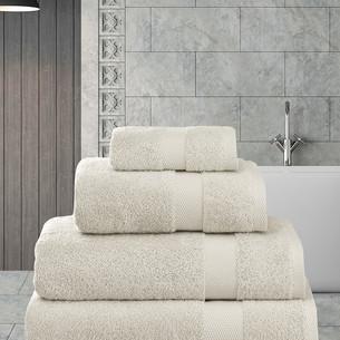 Полотенце для ванной Karna AREL хлопковая махра бежевый 100х150