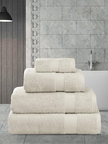 Полотенце для ванной Karna AREL хлопковая махра бежевый 50х100, фото, фотография