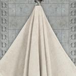 Полотенце для ванной Karna AREL хлопковая махра бежевый 100х150, фото, фотография