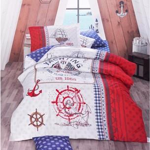 Детское постельное белье Clasy ALESTA хлопковый ранфорс красный 1,5 спальный