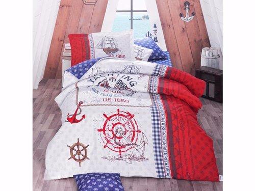 Детское постельное белье Clasy ALESTA хлопковый ранфорс красный 1,5 спальный, фото, фотография