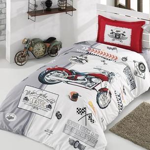 Детское постельное белье Clasy ARIZONA хлопковый ранфорс серый 1,5 спальный