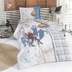 Детское постельное белье Clasy ASIST хлопковый ранфорс бежевый 1,5 спальный, фото, фотография