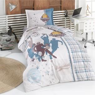 Детское постельное белье Clasy ASIST хлопковый ранфорс бежевый 1,5 спальный