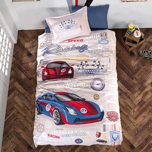 Детское постельное белье Clasy GARAGE хлопковый ранфорс 1,5 спальный