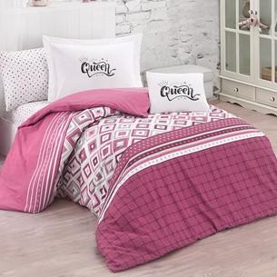 Постельное белье Clasy LITTLE QUEEN хлопковый ранфорс розовый 1,5 спальный