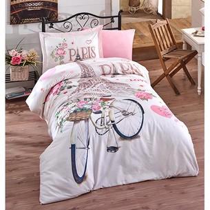 Постельное белье Clasy PARIS LOVE хлопковый ранфорс 1,5 спальный