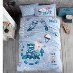 Детское постельное белье Clasy SKYLAND хлопковый ранфорс 1,5 спальный, фото, фотография