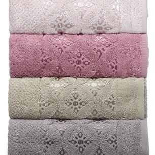 Набор полотенец для ванной 4 шт. Pupilla ASYA хлопковая махра 50х90