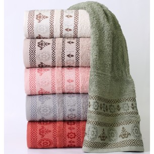 Набор полотенец для ванной 6 шт. Swan Cotton DEFINE хлопковая махра 70х140
