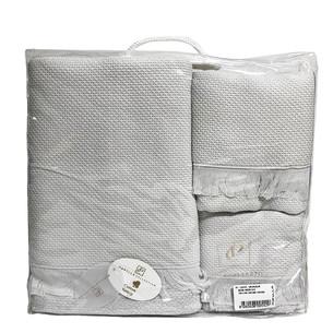 Набор полотенец для ванной 3 пр. Pupilla BERNINI светло-серый