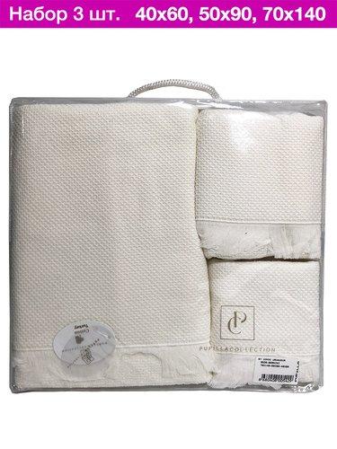 Набор полотенец для ванной 3 пр. Pupilla BERNINI кремовый, фото, фотография