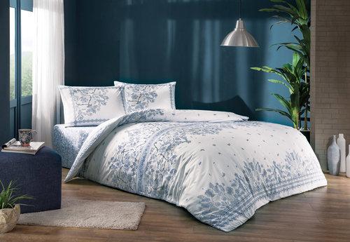 Постельное белье TAC HAPPY DAYS ROBIN хлопковый ранфорс лиловый 1,5 спальный, фото, фотография