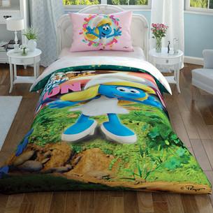 Детское постельное белье светящееся TAC SIRINLER FUNNY GIRL хлопковый ранфорс 1,5 спальный