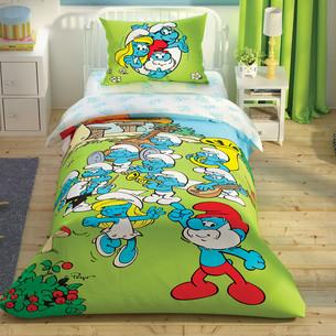 Детское постельное белье светящееся TAC SIRINLER MUSICAL хлопковый ранфорс 1,5 спальный