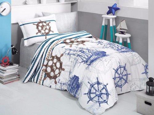 Детское постельное белье Clasy MARINE хлопковый ранфорс 1,5 спальный, фото, фотография