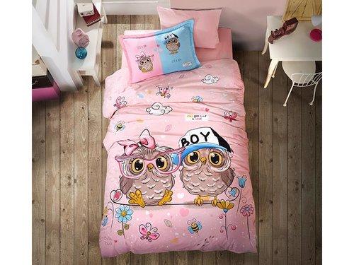 Детское постельное белье Clasy PUHU хлопковый ранфорс 1,5 спальный, фото, фотография