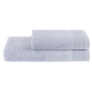 Полотенце для ванной Soft Cotton BAMBU хлопковая/бамбуковая махра голубой 50х100