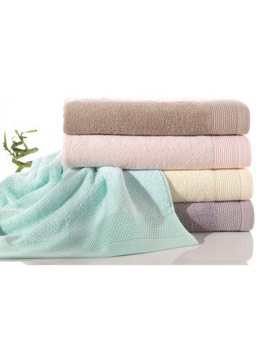Полотенце для ванной Soft Cotton BAMBU хлопковая/бамбуковая махра голубой 50х100, фото, фотография