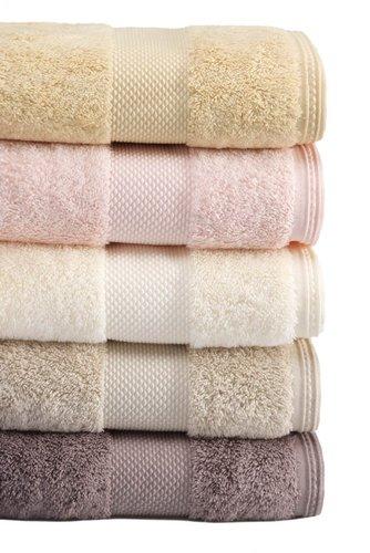Полотенце для ванной Soft Cotton DELUXE махра хлопок/модал кофейный 50х100, фото, фотография