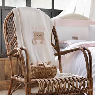 Плед детский для новорожденных Tivolyo Home LOVELY хлопок розовый 85х90