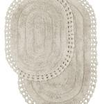 Набор ковриков для ванной Modalin YANA хлопок стоне, фото, фотография