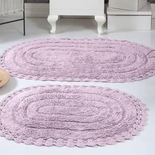Набор ковриков для ванной Modalin YANA хлопок лавандовый