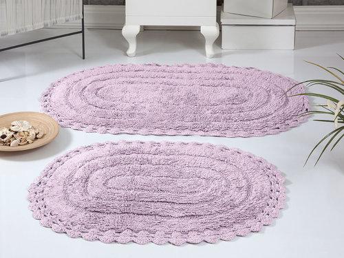 Набор ковриков для ванной Modalin YANA хлопок лавандовый, фото, фотография