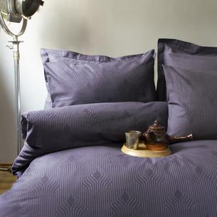 Постельное белье Issimo Home BOTILO хлопковый сатин-жаккард делюкс тёмно-серый евро