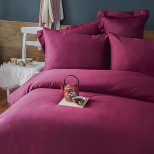Постельное белье Issimo Home SIMPLY SATIN хлопковый сатин делюкс винный евро