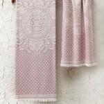 Полотенце для ванной Tivolyo Home HERMES хлопковая махра розовый 50х100, фото, фотография