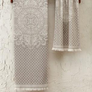 Подарочный набор полотенец для ванной 2 пр. Tivolyo Home HERMES хлопковая махра бежевый