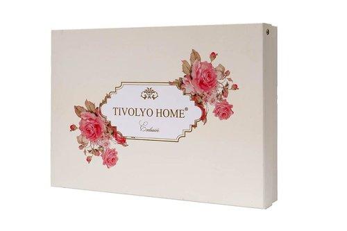 Подарочный набор полотенец для ванной 2 пр. Tivolyo Home HERMES хлопковая махра бирюзовый, фото, фотография