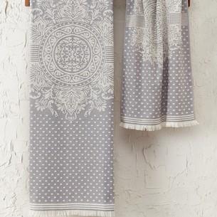 Подарочный набор полотенец для ванной 2 пр. Tivolyo Home HERMES хлопковая махра лиловый