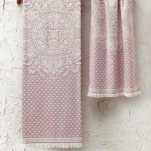 Подарочный набор полотенец для ванной 2 пр. Tivolyo Home HERMES хлопковая махра розовый