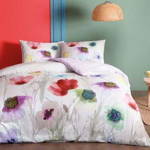 Постельное белье TAC HAPPY DAYS BELINDA хлопковый ранфорс лиловый 1,5 спальный