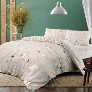Постельное белье TAC HAPPY DAYS ADENA хлопковый ранфорс бежевый 1,5 спальный