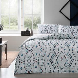 Постельное белье TAC HAPPY DAYS JOAN хлопковый ранфорс серый 1,5 спальный