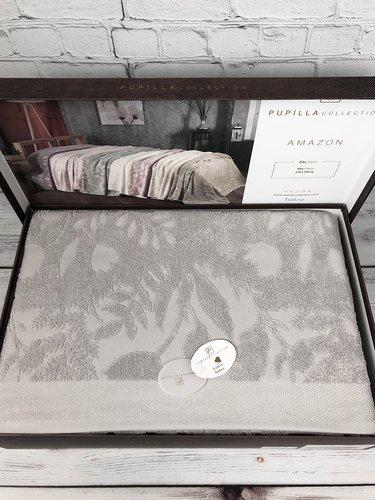 Махровая простынь для укрывания Pupilla AMAZON хлопок серый 220х240, фото, фотография