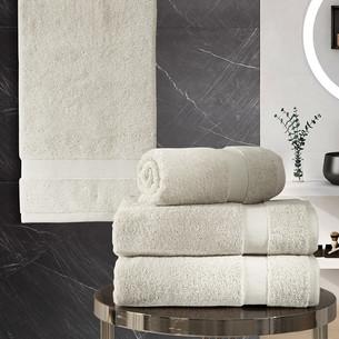 Подарочный набор полотенец для ванной 50х100(2), 70х140(2) Karna AREL хлопковая махра бежевый