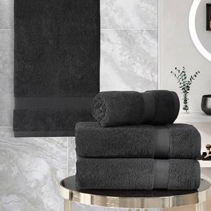 Подарочный набор полотенец для ванной 50х100(2), 70х140(2) Karna AREL хлопковая махра тёмно-коричневый
