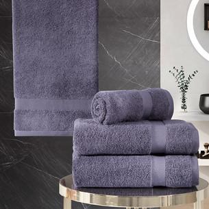 Подарочный набор полотенец для ванной 50х100(2), 70х140(2) Karna AREL хлопковая махра лавандовый