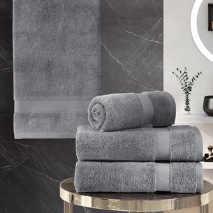 Подарочный набор полотенец для ванной 50х100(2), 70х140(2) Karna AREL хлопковая махра серый
