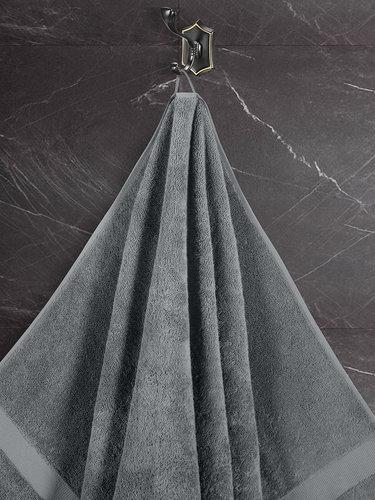 Подарочный набор полотенец для ванной 50х100(2), 70х140(2) Karna AREL хлопковая махра серый, фото, фотография