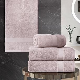 Подарочный набор полотенец для ванной 50х100(2), 70х140(2) Karna AREL хлопковая махра грязно-розовый